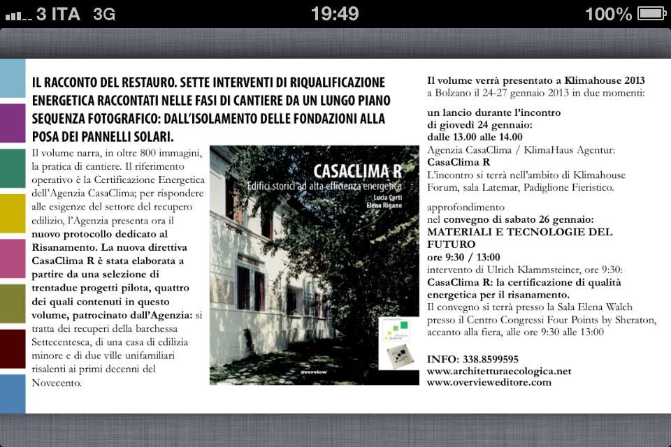 CasaclimaR - Klimahouse 2013