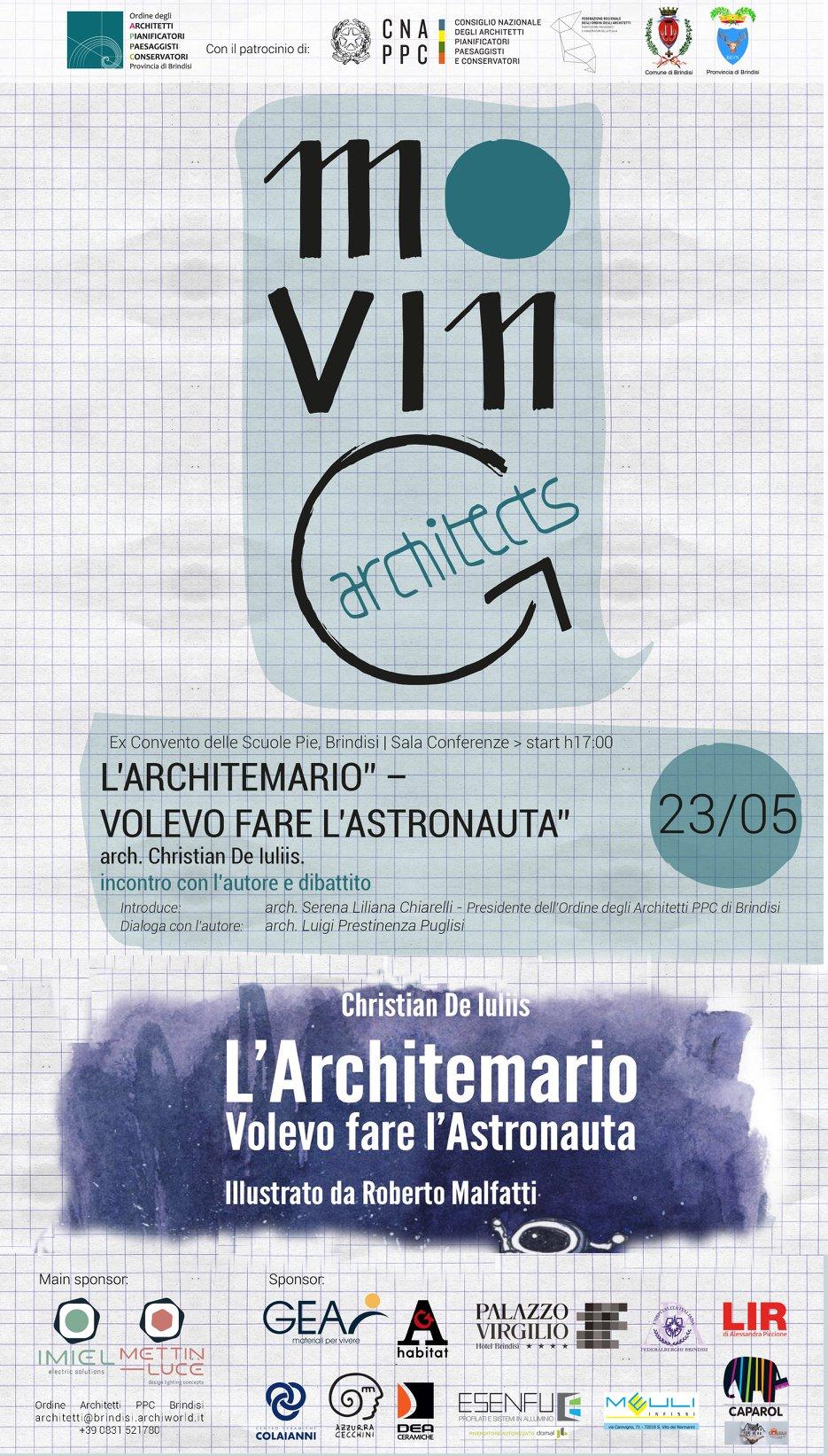 """23 maggio: """"L'Architemario"""" a Brindisi"""